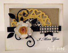 I Miss You by rohla - Cards and Paper Crafts at Splitcoaststampers Z Cards, Cool Cards, I Miss You Card, Spellbinders Cards, Candy Cards, Scrapbook Cards, Scrapbooking Ideas, Cards For Friends, Winter Cards