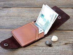 Купить Портмоне из натуральной кожи арт. MC 002 - коричневый, шоколадный, портмоне, портмоне из кожи