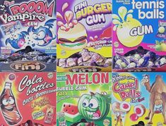 Individually wrapped small pieces of Bubble Gum with liquid filling. Available in 25 OR Suitable for vegetarians. Bubble Gum Brands, Gum Flavors, Rainbow Ice Cream, Retro Sweets, Weird Food, Pop Tarts, Business Ideas, Bubbles, Candy