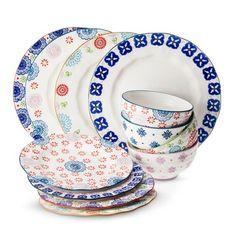 Boho Boutique™ Floral Ceramic Dinnerware Collection