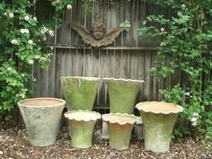 Terra Cotta Planters in the Gardens at Capitol Park Antiques