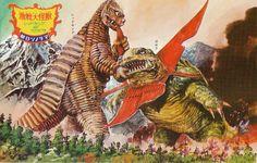 Red King vs Gabora Classic Ultraman monsters