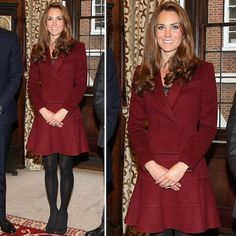Kate Middleton in Maroon Skirt Suit 2012 | POPSUGAR Fashion