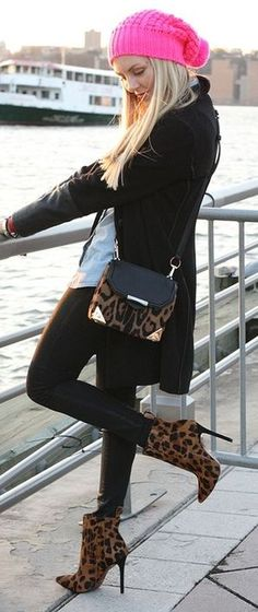 Leopard Accents   Street Style