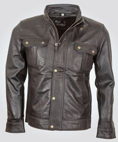 Mens Black Leather jacket- Jack hammer