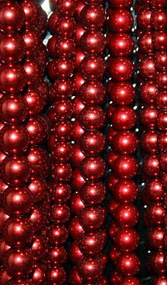 Shiny red beads: