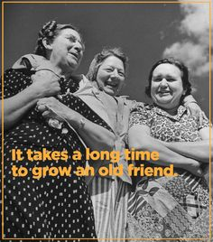 Growing an old friend takes time.from the age of until Norma passed in was 47 years, and I still say she is my best friend, because I know I will see her again some day. Best Friends Forever, My Best Friend, Soul Sisters, True Friends, Old Friends Funny, Friendship Quotes, Friendship Pictures, Bffs, Me As A Girlfriend
