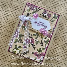 By Su Mohr Featuring: Share What You Love, Lots of Labels, Beautiful Bouquet, Polka Dot Tulle Ribbon; Love Anniversary, Wedding Anniversary Cards, Wedding Cards, Stampin Up Catalog, Specialty Paper, Color Card, Love Cards, Paper Cards, Stamping Up