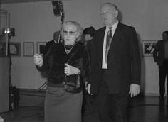 Sviatoslav Richter con la musa russa di Henri Matisse Lydia Delektorskaya il 3 dicembre 1984, in occasione di una esposizione al Museo Puškin di Henri Matisse.