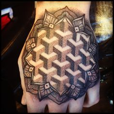 geometric hand jammer by me @lenitattoo Rock Steady Tattoo UK