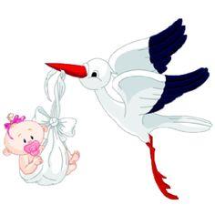 Аист Проведение девочка - милый ребенок изображений