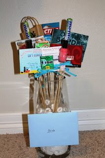 Gift card bouquet.