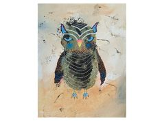 Isn't she cute?. . .Owl Print  Funky Owl  Baby Owl Painting  Quirky by ArtBeatriceM