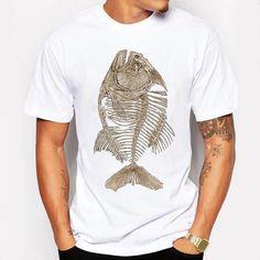99d350bbea8 Bony Piranha Fish T shirt. Mens Tee ShirtsCool ...