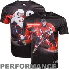 7a3a3c74737 NHL Alex Ovechkin Washington Capitals #8 THREE60 Player Graphics  Performance Premium T-Shirt -