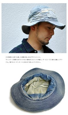 3e5ad919b92 Nakota  Vintage style self (self) net denim damage processing hat and it  was not a massive damage Hat! Outdoor festivals denim Hat mens unisex -  Purchase ...