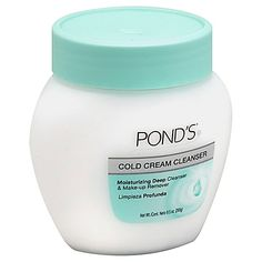 Pond's Cold Cream Cleanser Moisturizing Deep Cleanser & Makeup Remover deep cleans, removes dirt and makeup, even waterproof mascara, while infusing your skin with vital moisture, all in one easy routine.
