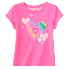 Toddler Girl Jumping Beans® Embroidered Pattern Applique Tee