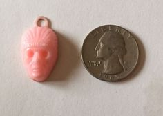 Cracker Jack Gumball Premium Toy Prize Plastic Celluloid Indian Chief Head Mask #CrackerJack