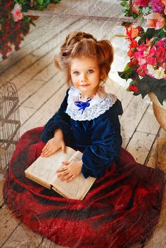 Russian child model Varvara Vorobyeva.