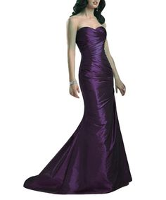 Emmani Women's Long Sweetheart Mermaid Shiny Formal Prom Evening Dresses Grape 28w. Main Fabric:Taffeta. Occasion:Party,Prom,Celebrity,Evening,Cocktail,Banquet,Wedding. Please note that the delivery date that you saw is automatically setted by Amazon system, usually it will cost about 10-15 days for you to get the beautiful dress.However if you need the dress less than 15 days, please choose expedite delivery and contact us in advance,then we will make the dress for you in priority for...