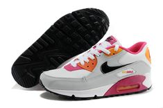 the latest 26bc9 692b2 com Nike Air Max 90 2007 GS White Black Neutral Grey Fireberry Pink Shoes