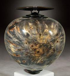 Kim Blatt Woodturning : Vessel Gallery One : Buckeye Burl Vessel