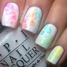 #Nails #Seifenblasen #bunt #Frühling #Spring #Sommer #Summer
