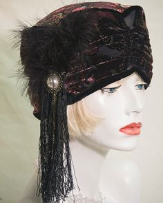 Vintage  Inspired 1920s Style  Turban Hat Downton by aileens4hats