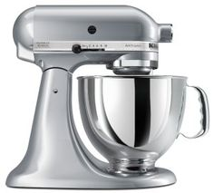 The classic, silver KitchenAid Mixer completes any kitchen. These reliable things last for years! Crave Bakery's Favorite Gluten Free Baking Tools