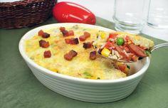 Clique e veja a receita de Arroz de forno caipira! Também veja dicas de como fazer Arroz de forno caipira com ingredientes deliciosos e se tornar um verdadeiro chef de cozinha!