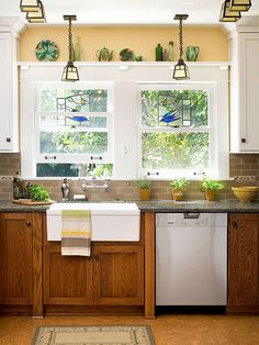 Decorating with Oak Cabinets - #2 Through the 1980s and 1990s, oak cabinets were the popular choice among builders for kitchens, bathrooms, and laundry rooms in homes across America, and they remain in many of them to this day. Oak is a hard wood and if prope