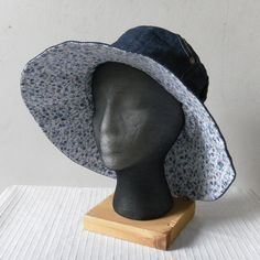 20940f3beaa Recycled Denim Sun Hat by madeindenim on Etsy