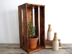 Vintage Wood Crate /  Vintage Wood Box  by SnapshotVintage on Etsy, $42.00/have one of these