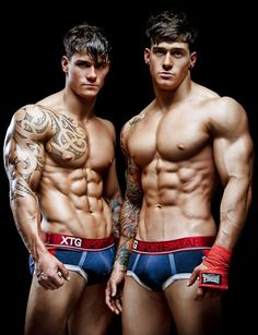 What's better than a model in underwear? Male model twins in their underwear (obviously)! We rounded up ten of our favorite dynamic duos dropping trou.