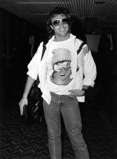 Andy at Heathrow Airport January 1988 / One of his last photos.  Can't believe the world lost someone as amazing as Andy at the age of 30.