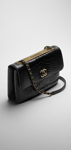 Alligator flap bag embellished... - CHANEL