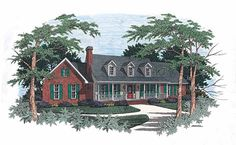 Eplans Country House Plan - Plenty of Amenities - 1745 Square Feet and 3 Bedrooms from Eplans - House Plan Code HWEPL04291