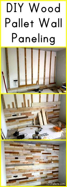 DIY Wood Pallet Wall Paneling   101 Pallets                                                                                                                                                                                 More