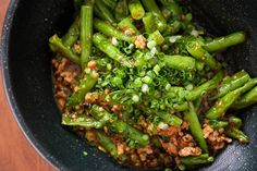 Green Beans with Ground Beef and Garlic Black Bean Sauce. Make sure not to over cook the beans! So good over rice.