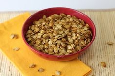 This recipe shows that healthy afternoon snacks don't have to be bland. Garlic, chili powder, and the usuals - salt and pepper - give Warm Roasted Pumpkin Seeds enough kick to get you through the rest of your day!