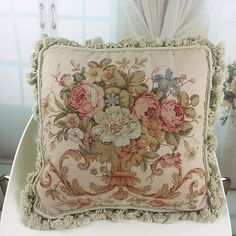 Gorgeous Wool Needlepoint Cushion Cover Pillow Sham 317A | eBay
