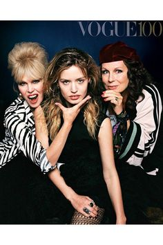 Ab Fab's Vogue Takeover http://ift.tt/23rE9zx #BritishVogue #Fashion