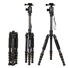 94.25$  Watch now - http://aliw3e.worldwells.pw/go.php?t=32724848522 - ZOMEI Z699C Professional Portable Travel Carbon fiber camera Tripod Monopod+Ball head for Digital SLR DSLR Camera
