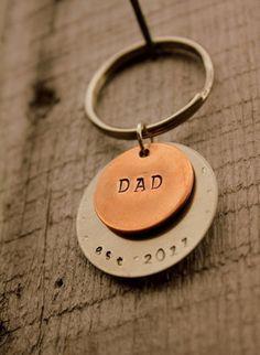Custom dad keychain #mintedandmine and #personalized #thegiftinsider