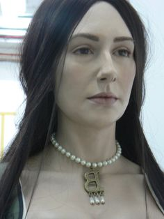 Anne Boleyn reconstruction at Hever Castle Kent UK by Emily Pooley  22 year old Technical and Special Effects artist.