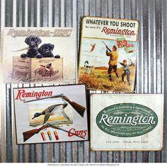 Remington Ammunition Hunting Metal Signs Set of Four