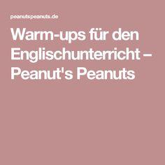 Warm-ups für den Englischunterricht – Peanut's Peanuts