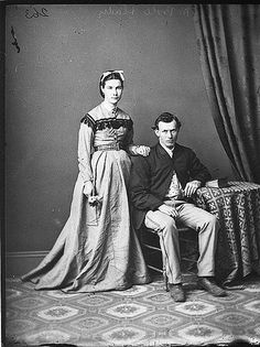Mr & Mrs Poole, 1870-1875 / Holtermann Collection by State Library of New South Wales collection, via Flickr