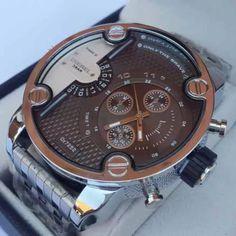 relojes de acero con calendario diesel para hombres